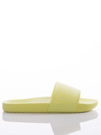 Żółte klapki Zaxy, z profilowaną podeszwą