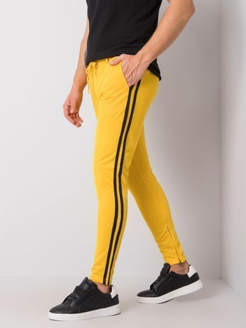 Żółte spodnie dresowe męskie Darren