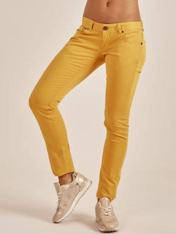 Żółte spodnie o kroju regular