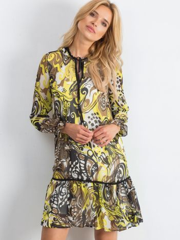 Żółto-brązowa sukienka Adventurous