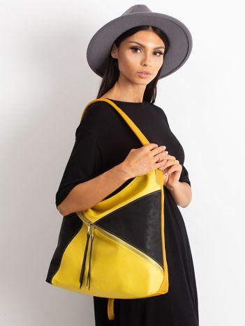 Żółto-czarna miejska torba