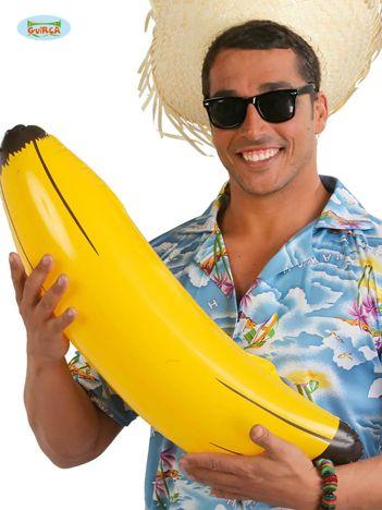 Żółto-czarny dmuchany banan imprezowy