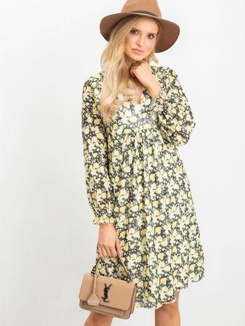 Żółto-zielona sukienka Spring