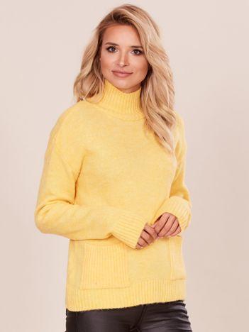 Żółty golf damski