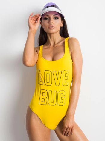 Żółty kostium kąpielowy Chillin