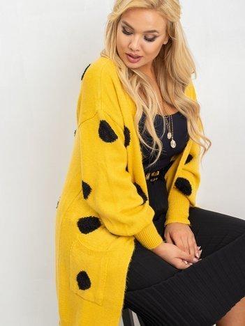 Żółty sweter plus size Nicki