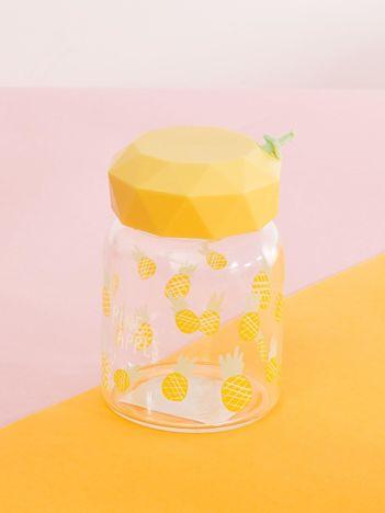 Żółty szklany pojemnik