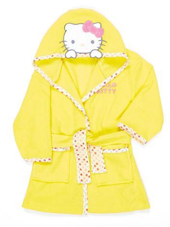 Żółty szlafrok dla dziewczynki z motywem Hello Kitty