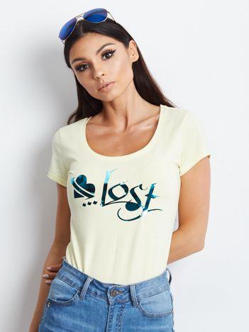 Żółty t-shirt Lost