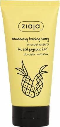 nowość! ZIAJA Ananasowy energetyzujący żel pod prysznic 2 w 1 do ciała i włosów160 ml