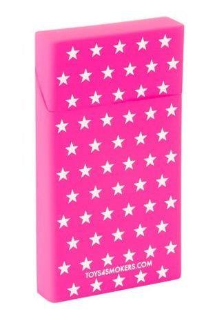 toys4smokers Etui silikonowe na papierosy slim PINK STARS