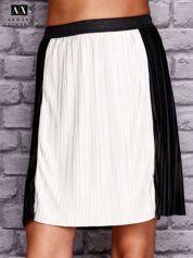 ARMANI Czarna plisowana spódnica two tone