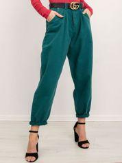 BSL Zielone spodnie jeansowe