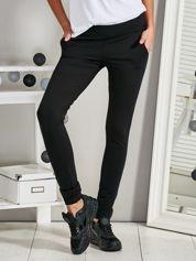 Bawełniane spodnie rurki z suwaczkiem czarne