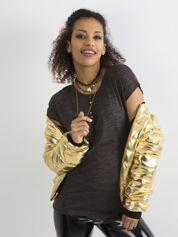 Bawełniany t-shirt damski ciemnoszary