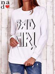 Biała bluza z napisem BAD GIRL