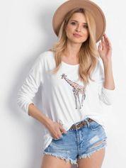Biała bluzka Giraffe