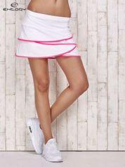Biało-różowe spodenki spódniczka tenisowa z falbankami