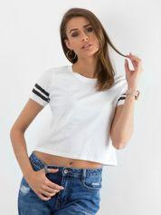 Biały krótki t-shirt Absence