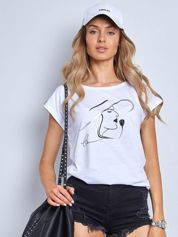 Biały t-shirt Bright