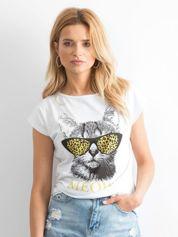 Biały t-shirt Highbrow
