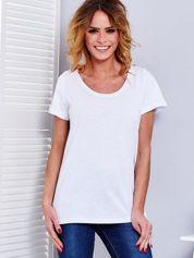 Biały t-shirt damski basic PLUS SIZE