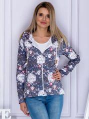 Bluza damska w kwiatowy deseń