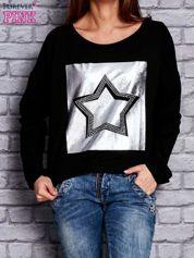 Bluza z motywem gwiazdy czarna