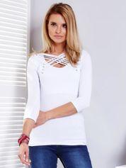Bluzka biała z cienkimi paskami