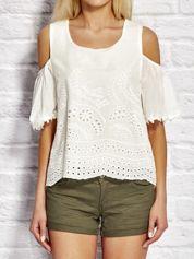 Bluzka  damska w folkowym stylu biała
