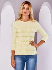 Bluzka damska z falbankami żółta