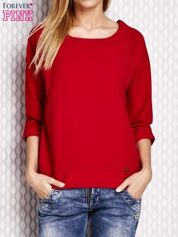 Bluzka o kroju pudełkowym oversize czerwona