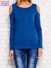 Bluzka z długim rękawem z ramionami cut out ciemnoniebieska