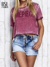 Bordowy t-shirt cropped DIMEPIECE