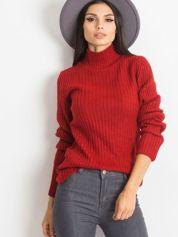 Ciemnoczerwony sweter Milo