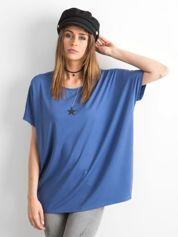 Ciemnoniebieska bluzka Oversize