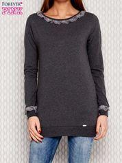 Ciemnoszara bluza z koronką