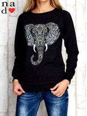 Ciemnoszara bluza z nadrukiem słonia