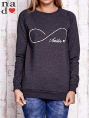 Ciemnoszara bluza z napisem SMILER