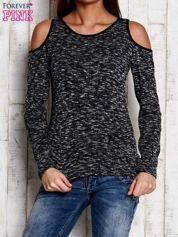 Ciemnoszara melanżowa bluzka cut out shoulder