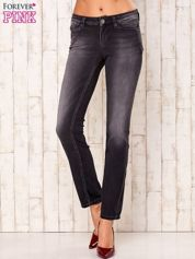 Ciemnoszare spodnie o kroju regular