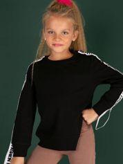 Czarna asymetryczna bluza dla dziewczynki