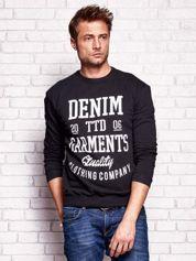 Czarna bluza męska z miejskim nadrukiem