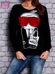 Czarna bluza z komiksowym nadrukiem