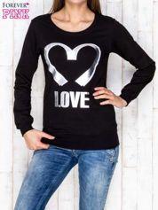 Czarna bluza z napisem LOVE
