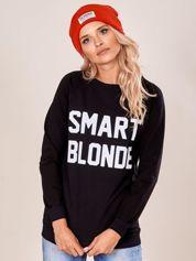 Czarna dresowa bluza damska z napisem