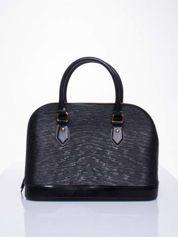 Czarna fakturowana torba gumowa kuferek z rączką
