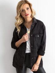 Czarna jeansowa kurtka damska