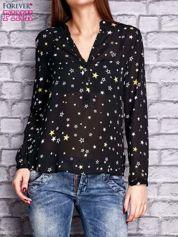 Czarna koszula w gwiazdki