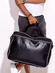 Czarna męska torba sportowa